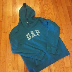 Turquoise Gap Hoodie - L